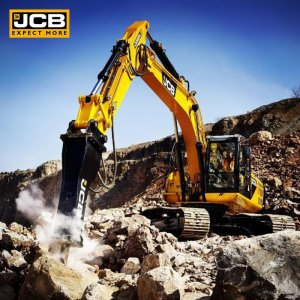 Excavator crushing