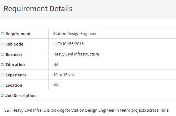 Station Design Engineer Job